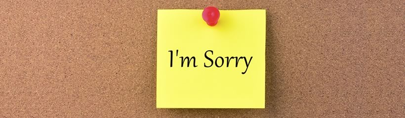 Apology - Good or Bad Idea?
